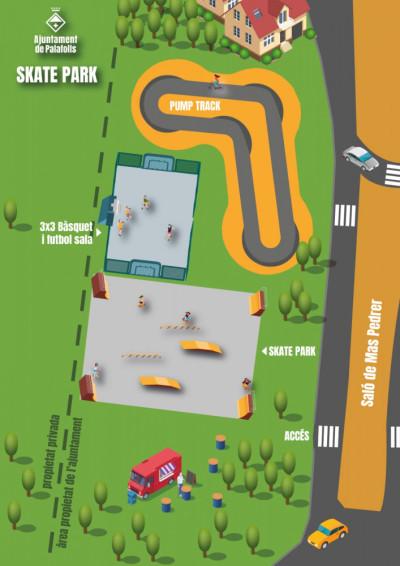 mapa skate park